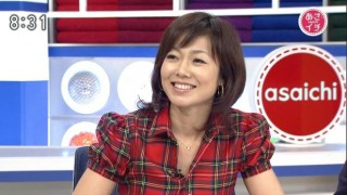 NHK有働由美子アナのあさいち放送事故ハプニング映像 生放送中びっくりしすぎてマツゲが取れる