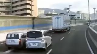【ドラレコ動画】 阪神高速道路で危険なバトル 激しすぎる運転映像が話題に