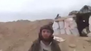 IS(イスラム国)プロパガンダビデオ撮影中にミサイルが直撃 チュドーン!する瞬間映像