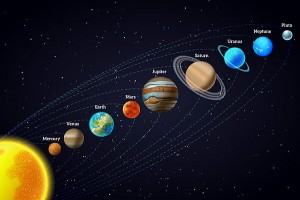 Solar system astronomy banner