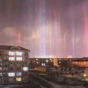 天に向かって伸びる光の柱 中国で世にも珍しい現象が話題に(動画・画像)