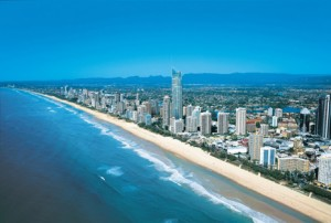 Aerial of Surfers Paradise and Q1
