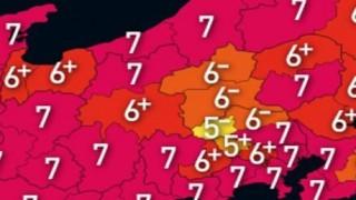 【絶望】日本の都道府県別 過去の最大震度を図にしてみたらこうなった・・・
