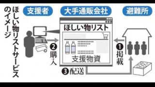 【最悪】熊本地震災害ほしい物リスト悪用か<龍田中学校に高額品600万円分>詐欺ではないかの声