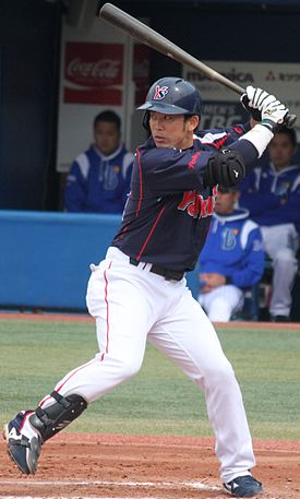 20140413_Yuuhei_Takai,_infielder_of_the_Tokyo_Yakult_Swallows,_at_Yokohama_Stadium