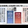 ネット民の目はごまかせない 東京新聞の印象操作グラフ 社会保障費と防衛費の比較グラフが酷い