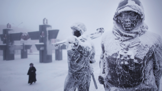 極寒のロシアで凍ってしまった猫