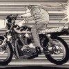 とんでもない命知らずなバイクの乗り方した男性が撮影され話題に →動画とGIF