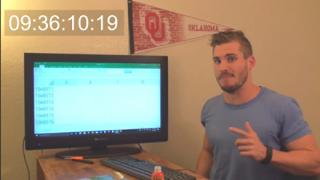 YouTuberが9時間36分かけて証明したチャレンジを一瞬で終わらせ確認する方法…Excelの底を見た男