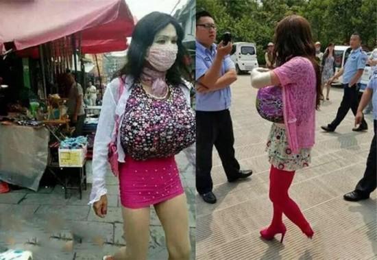 127893-中国一名偷窥狂遭逮,看完他的装扮后,网友一致认为他这辈子大概没见过女人...3