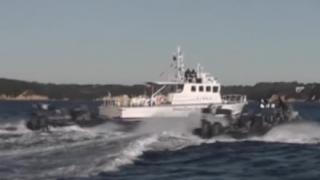 あまり報道されない現実 尖閣諸島周辺で中国公船と渡り合う海上保安庁の巡視船<動画>海保が報道機関に提供