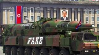 【読唇術】金正恩氏の会話解析した結果「作り物のミサイルでも気づかないよな!」軍事パレードで