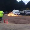 【予想以上に爆発注意】お祭りの焚き火が点火直後に大爆発 → 動画とGIf画像
