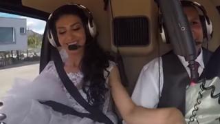【訃報】花嫁を乗せたヘリコプター『離陸から墜落』までの機内映像