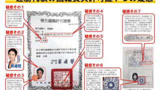 松井一郎「蓮舫は戸籍謄本を公開すべき」…蓮舫の「二重国籍」説明は矛盾だらけ「排外主義」に話をすり替える「1984年に失効した旅券」で国籍離脱できるのか