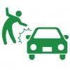 【車が悪いの?】横断歩道で車にハネられる女性 →GIF画像