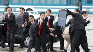 【爆走】 首相SP達による集団ハコ乗りが凄い →GIFと動画