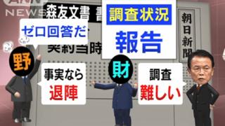 テレ朝「朝日新聞が確認した文書が決裁文書か分からない。これじゃ財務省は黙るだけだろ」