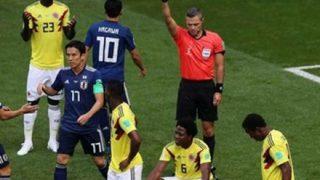 【質問】なんでハンドでいきなりレッドカードだったの? 日本対コロンビア戦 開始3分での記録は史上2番目の早さ