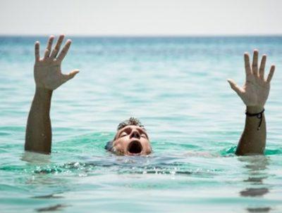 【使命感】イッヌ「ファッ!?ご主人が溺れてる…!?」→GIF画像