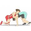 【裏山攻防】少年と少女のレスリング動画 激しすぎワロタwwwww