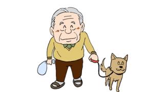【画像】洪水の中、犬を散歩させる老人が撮られる
