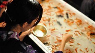【悲報】風俗ギャルさん祭りで取った金魚をトイレに流して炎上 →GIfと動画