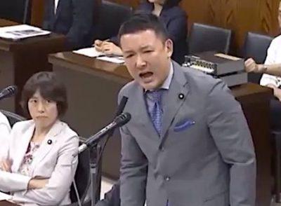 山本太郎が暴行!内閣委員長の腕に掴みかかりマイクを損壊する暴挙