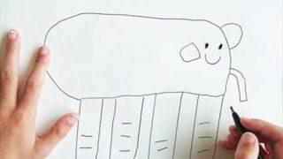 【画像】子供が描いた絵を忠実に再現したらこうなった・・・