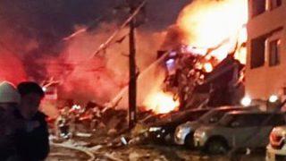 【動画像】札幌で爆発 アパマンショップが跡形もなく…42人がけが うち1人は重傷