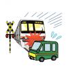 【衝撃映像】オバハンが運転する車が踏切内で電車に轢かれる瞬間が撮影される