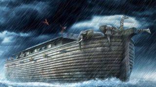 【画像】ノアの方舟に乗せられるライオン 2匹ともオスでワロタw