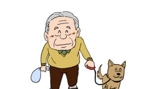 【動画】お爺ちゃん「せや!車の運転しながら犬の散歩したろw」