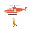 【悲報】ヘリで救助された74歳の女性、空中で超高速回転してしまう