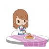 【画像】美人さん「人前でパスタ食べる時の顔を撮った」
