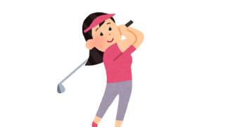 【ゴルフ×おっぱい】Eカップ女性がスイングするだけのGIF画像