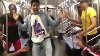 【動画】陽キャ黒人さん、また電車で暴走してしまう