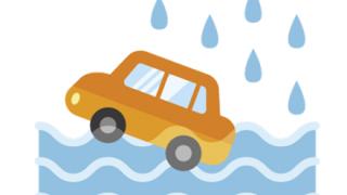 【4分の出来事】被災中ドラレコ『道路冠水していく様子』怖すぎ泣いた…
