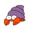 【悲報】ヤドカリさん、ガラスの殻でキモい体を晒してしまう😅