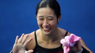 【画像】女子飛び込み選手の『鍛え上げられた下半身』が凄い・・・