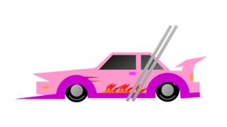 【動画】正月からシャコタン車カスが20cmの段差乗り越えられずバンパーバキバキ