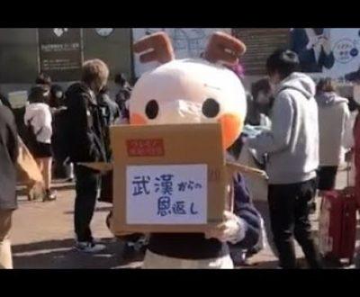 【画像】渋谷でマスク配ってた着ぐるみの中身wwwwwwwww