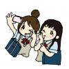【画像】女子高生「わたし達のパンティ見てよ(パシャw」