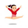 ◆閲覧注意◆体操の美少女選手が着地失敗し両足骨折するGIF画像