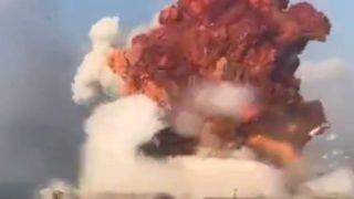 ◆レバノン大爆発◆爆心地の地面が消し飛ぶ →動画像
