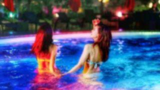 ◆爆乳◆がプールから『飛び出てくる瞬間』のGIfと動画 →
