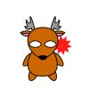 【悲報】野生の鹿さん、キンタマをブッ千切って逃走 →画像