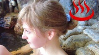 【動画像】白人女子が露天風呂に入るだけの動画の再生回数ワロタwwwwwwwJAPの性欲は異常wwwwww