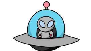 【こわよ】UFOに吸い上げられるオッサンの動画