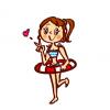 【画像】夏に浮かれる水着ギャルのお尻たち →